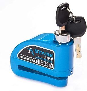 Trava de Disco com Alarme Anti Furto Segurança Proteção Moto - Azul