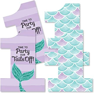 1st Birthday Let's Be Mermaids - One Shaped Decorations DIY First Birthday Party Essentials - Set of 20