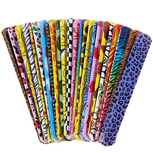 GOLDGE 24pcs Bunte Schnapparmbänder zum Kindergeburtstag für Kinder