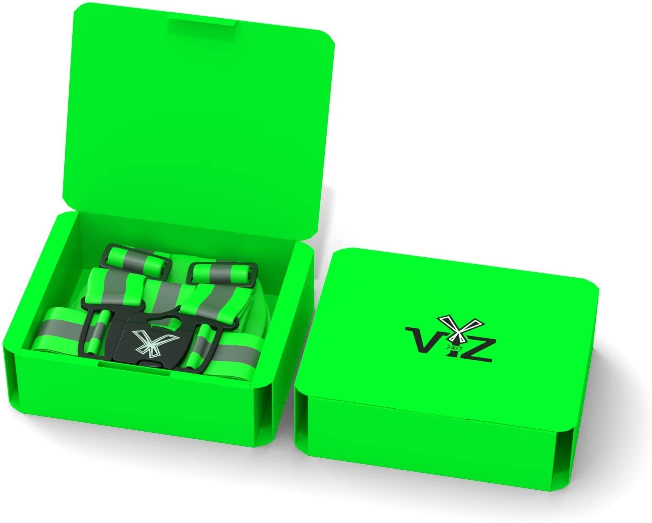 Motorcycle Safety Orange /& Pink Cycling High Visibility Neon Green Fully Adjustable /& Multi-Purpose: Running 247 Viz Reflective Vest with Hi Vis Bands Dog Walking