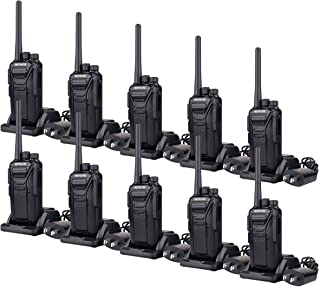 Retevis RT27 Two-Way Radios Rechargeable Long Range 2 Way Radio for Adults UHF FRS VOX Security Heavy Duty Walkie Talkies (Black,10 Pack)