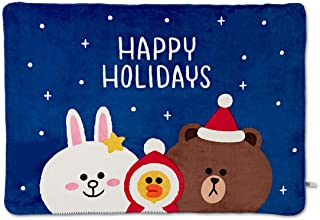 LINE FRIENDS Winter Collection Blanket - BF Character Soft Fluffy Plush Throw