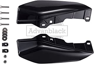 Us Stock Vivid/Glossy Black Mid-Frame Air Deflectors Heat Shield Fit for 2009-2016 Harley Touring Street Glide Road Glide Electra Glide Road King Ultra Classic