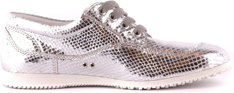 Hogan Women's MCBI37342 Silver Leather Sneakers