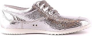 Luxury Fashion | Hogan Women MCBI37342 Silver Leather Sneakers | Season Outlet
