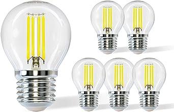 Aigostar Bombilla LED E27 Blanco Frío 6500K,4W (equivalente a 40W),470 lúmenes,Angulo de Apertura: 360°,No regulable de 5 uds