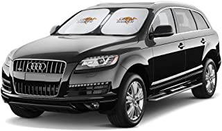 Large Car Sun Shade Jumbo Size for Minivan or SUV windshields. Shades Your car Windshield. Keeps car Cooler by up to 50%. ...