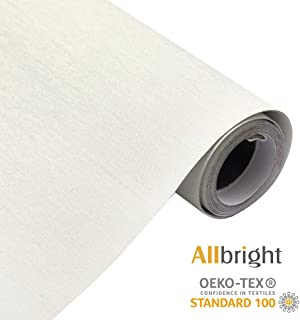 ALLBRIGHT 100%Blackout Manual Roller Shades Waterproof Fabric Roller Shades for Windows, Oeko_TEX Standard 100, 23