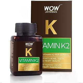 WOW Vitamin K2 55mcg - 60 Vegetarian Capsules