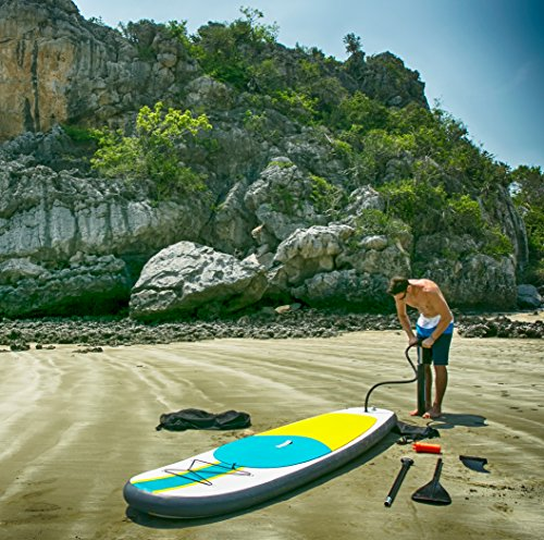 Product Image 7: 10' Inflatable Stand Up Paddle Board / Kayak And SUP! (6 Inches Thick, 32 Inch Wide Stance Width) |11-Piece Accessory Set That Includes Convertible Paddle, Kayak Seat, Travel Backpack, And More!