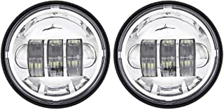 SKUNTUANG 1 Pair 4.5 Inch Fog Light Passing Lamps DRL bulb for Harley Davidson Daymarker Harley Fog Lamp (Silver Fog Light)