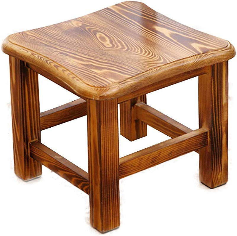 GDMING Footstool Wear Resistant Non Slip Environmental Protection Solid Wood 3 Colors Color C