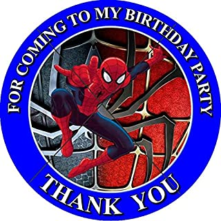 spiderman thank you stickers