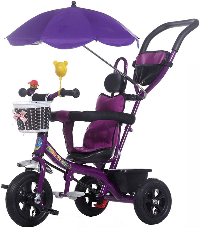 Disfruta de un 50% de descuento. Triciclos Niños Niños Niños Triciclo Cochecito Bebé Plegable UV Inflable Rueda de Bicicleta 1-5 años Cochecito de bebé Morado 20 kg Montar al Aire Libre para Niños  tiendas minoristas