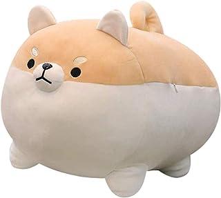 mementoy Cojín de peluche para perro de Corgi Shiba Inu Akita, muy suave, cojín decorativo
