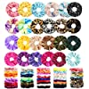 75 Pcs Premium Velvet Hair Scrunchies Silk Scrunchies Chiffon Flower Hair Bands for Women or Girls Hair Accessories with Gift Bag,Great Gift for Birthday ,Party,Halloween ,Thanksgiving,Christmas New Year #3
