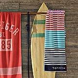 Tommy Hilfiger - Toalla de playa (90 x 180 cm), diseño de rayas, multicolor