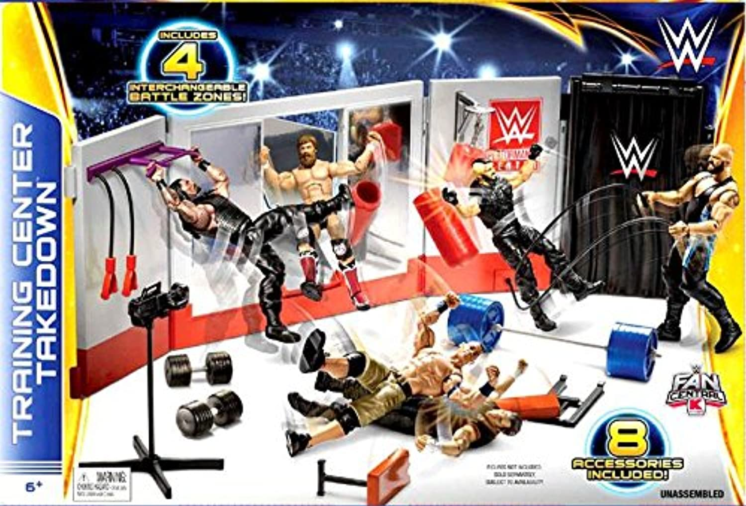 WWE Wrestling Fan Central Playset Training Center Takedown
