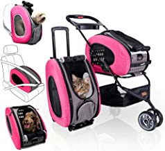 Best ibiyaya 5-in-1 Pet Carrier with Backpack, Car Seat, Pet Carrier Stroller, Shoulder Strap, Carriers with Wheels for Dogs and Cats - All-in-One Dog and Cat Strollers for Walks, Traveling, Trips Review