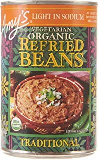 Amy's Beans, Organic Light in Sodium Traditional Refried Beans, 15.4 Ounce