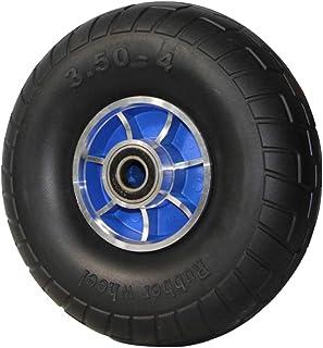 YJJT Industriële vervanging wiel, Stevige rubberen wielen dubbelzijdige stalen lagers, Airless band, Belasting 500 lbs per...