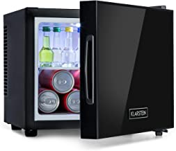Klarstein Frosty Minibar Mini-Kühlschrank, kompakt, freistehend, Thermoelektrisches Kühlsystem, 10 Liter Fassungsvermögen, Kühlung: 12-18 °C, Energieeffizienzklasse A, 33 dB, schwarz