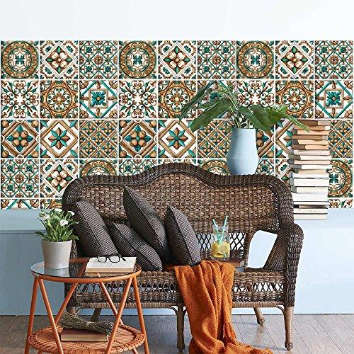 wall art PS00046 Adesivi in PVC per Piastrelle per Bagno e Cucina Stickers Design - Cetara