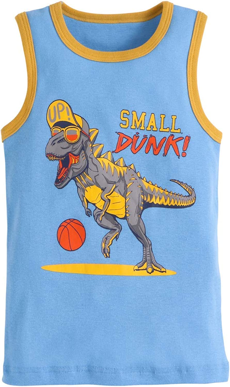 AQEACARMON Baby Boys Tank Tops Dinosaur 3 Pack Tanks Set