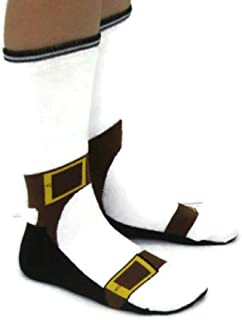 Sandal Socks - Fashion Faux Pas - Looks like you're Wearing Sandals with Socks 85% Cotton - Silly Socks