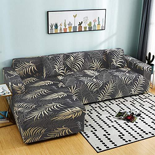 flqwe Sofa ÜBerwüRfe Elastische Stretch Sofa Bezug 2Er Set,Einfache Sofabezug, All-Inclusive-Stretch-Sofatuch, 1 Stück - Doppel: 145-185 cm_J