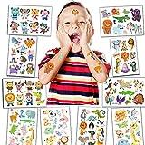 BOYATONG Tattoo Kinder, Tier Glitzer Temporäre Tattoos, Tattoo Tiere, Cartoon Tattoos Set, kindertattoos, Tattoos für Kinder Sticker für Mädchen und Junge in Kindergeburtstag Mitgebsel Party Spielen