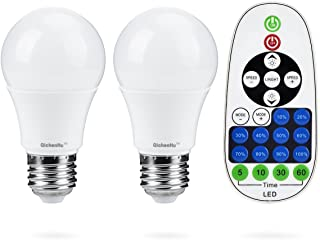 7W E26 LED Bulb, Warm - Cool White Color Temperature Adjustable with Remote Control, Intelligent dimming Timing Incandescent Equivalent 40W, A19 Bulb
