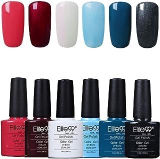 Elite99 Esmaltes Semipermanentes de Uñas en Gel UV LED 6pcs Kit de Esmaltes de Uñas en Gel Soak Off 005