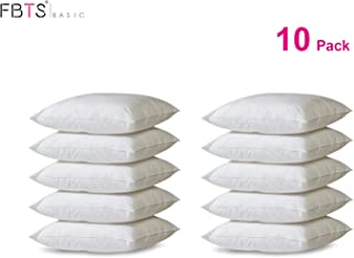 FBTS Basic Pillow Insert 10 Packs 18x18 Inch Square Sham Stuffer Premium Hypoallergenic Pillow Forms for Decorative Cushion Sofa Couch and Bed Pillows