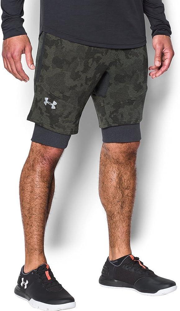 Under Armor Men's Threadborne Super beauty product restock quality top Trust Fleece Shorts Patterned