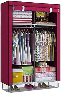 CXVBVNGHDF Armoire penderie vêtements Armoire portative placards Portables avec 2 tringles à vêtements, 4 étagères pour Ch...