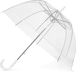 GadHome - Paraguas Transparente | Paraguas de Domo Grande de 85 cm para Mujeres, Bodas, Fotos de Fiesta de Novias | Paraguas Translúcido Ligero Plegable de Señora con Mango Blanco en C