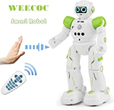 WEECOC Smart Robot Toys Gesture Control Remote Control Robot Kids Toys Birthday Can Singing Dancing Speaking Two Walking Models (Green)