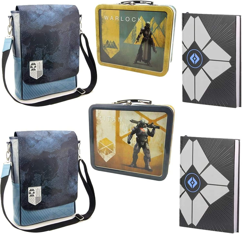 Toynk Destiny Guardian Titan Gift Set  Journal, Messenger Bag, & Tin Lunch Box
