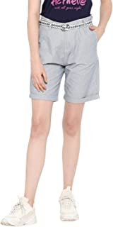KVL Womens Regular Fit Cotton Woven Striped Shorts (20502208) - Print