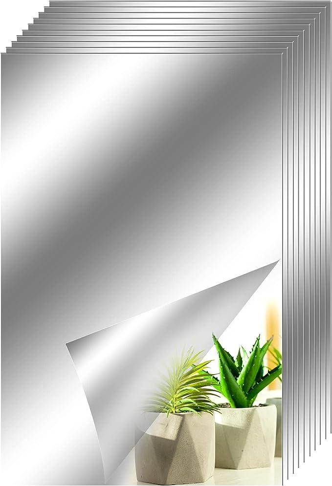 2113 opinioni per Toyyevr 10 Fogli Pellicola a Specchio Adesivo Murale Specchi autoadesivi DIY