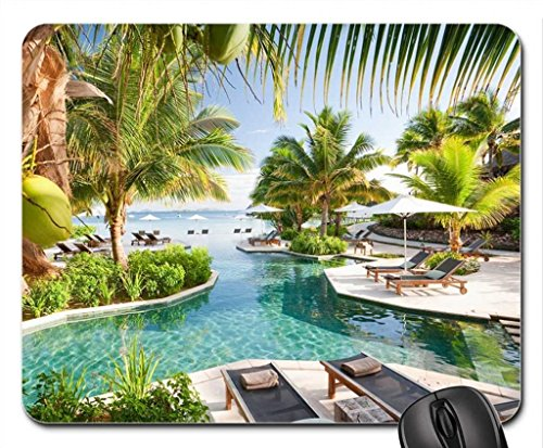 Dream Pool South Pacific Mouse Pad, Mousepad (Beaches Mouse Pad)