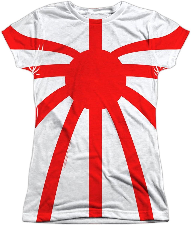 Valiant Comics Rai Superhero Rai Basic Costume Juniors Front Back Print T-Shirt White