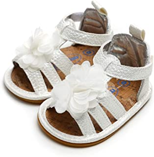 Neband Toddler Girls Sandals, Baby Boys Girls Prewalker Rubber Sole Non-Slip Outdoor Summer Sandals