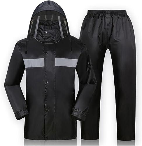 Imperméable Le Pantalon de Pluie de Moto de Moto électrique de Moto Convient, Simple Masculin et féminin (Couleur   Noir, Taille   XXXL)