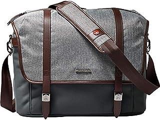 Manfrotto Medium Windsor Messenger Bag for DSLR Camera, Grey & Dark Brown