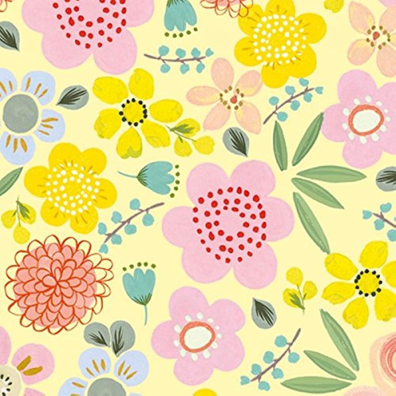 Geschenkpapier Rolle 50cm 250meter Flowers gelb gelb gelb B0722HP8L7 | Einfach zu spielen, freies Leben  fe8fa6