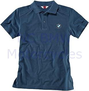 BMW Genuine Logo Polo Men Shirt Blue L Large