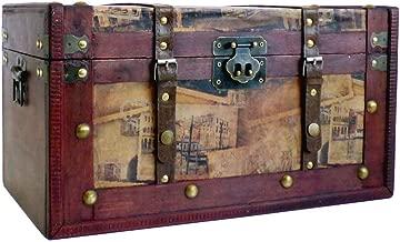 De lujo de gran caja de almacenamiento de madera de madera Tronco - idea de regalo para el cumpleaños