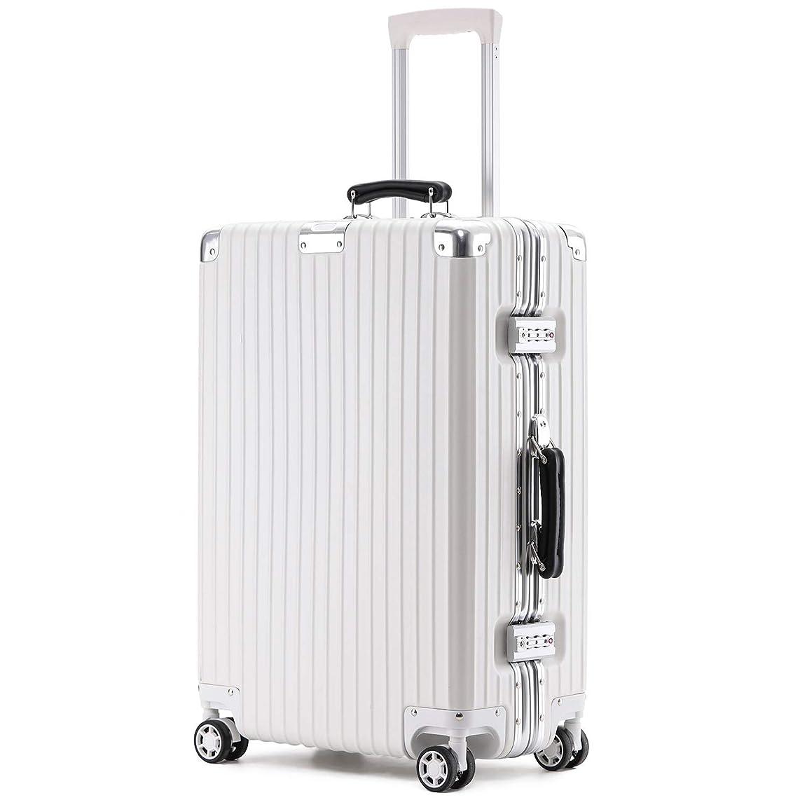 プレゼンターデッドロックファンブルkroeus(クロース)スーツケース キャリーケース ABS+PCボディ 革製ハンドル 復古主義 エンボス加工 TSAロック搭載 海外旅行 出張 Sサイズ機内持ち込可 1年間保証付き